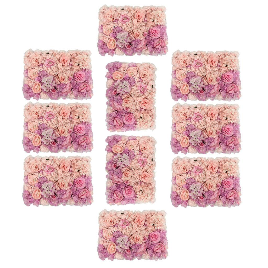 10pcs artificielle couleur changeante bleumenwand rosenwand, à faire soi-même Mariage Arrière-plan