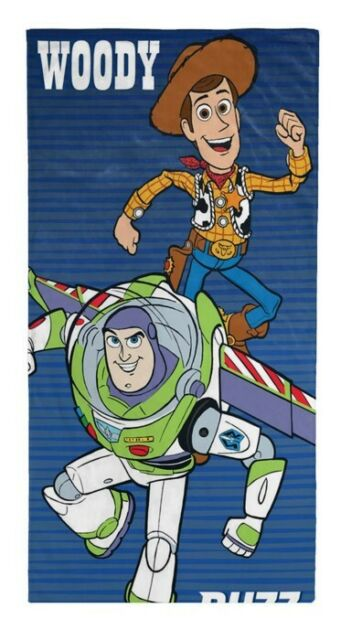 Disney Pixar Toy Story 4 Buzz Lightyear & Woody Beach Towel 28 in x 58 in Pool