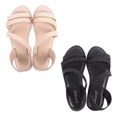 Womens Open Toe Flat Sandals Cover Heel Casual Fashion Slip On Shoes Flip Flops