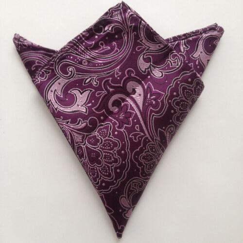 New 100/% Silk Purple Handkerchief Pocket Square Hankie Hanky Wedding Gift