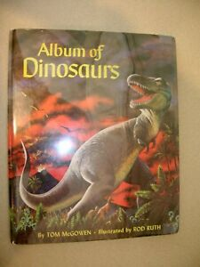 Album-of-Dinosaurs-By-Tom-McGowen-Illus-By-Rod-Ruth-1975-Hardcover-Fantastic