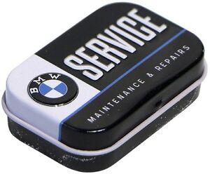 Gepraegte-Nostalgie-Pillendose-Pfefferminzdragees-BMW-SERVICE-DOPI34