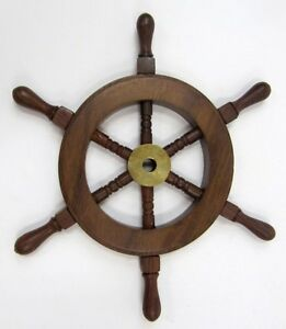 Image Is Loading 9 034 Ship Wheel Wooden Pirate Decor Nautical