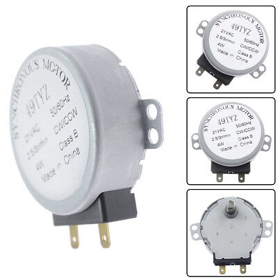 4Pieces AC120V 6RPM Turntable Motor Microwave for AP4650099 6549W1S013H