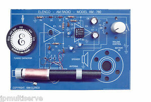 Details about AM Radio Electronics Soldering Kit with Two IC, Elenco AM-780K