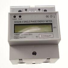 110V 60hz 20A to 100A Single Phase DIN-rail Type Kilowatt Hour kwh Meter