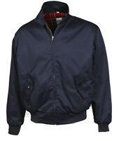 Harrington Jacket Bomber Classic Tartan Lined G9 Ska Punk Skinhead Mod Navy