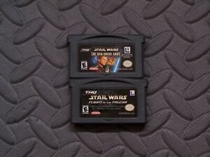 Lot-Nintendo-Game-Boy-Advance-GBA-Games-Star-Wars-The-New-Droid-Army-Flight-of