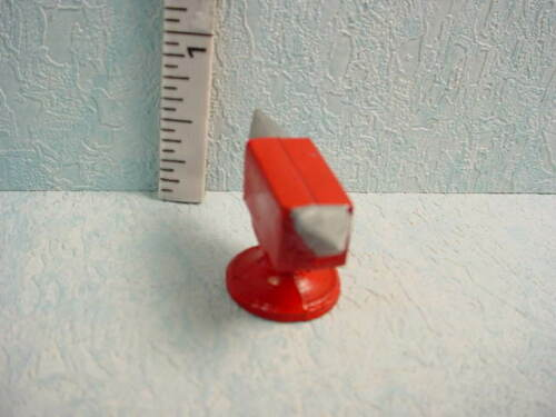 #419 Painted Metal Red and Silver Dollhouse Miniature Small Anvil