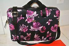 "NWT Kate Spade 15"" Classic Nylon Laptop Bag Case Crossbody Computer black rose"