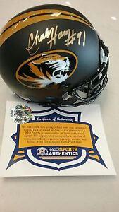 Missouri-Tigers-Charles-Harris-Signed-Autographed-Matte-Oval-Mini-Helmet-COA