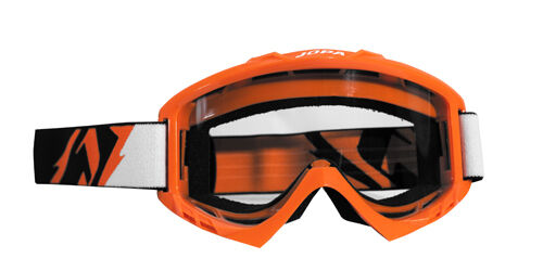Jopa Lunettes Poison Orange KTM MX Motocross Enduro LUNETTES White Goggle Cross