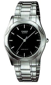 Casio-MTP1275D-1A-Mens-Stainless-Steel-Analog-Dress-Watch-Black-Dial-NEW