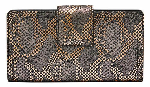 FOSSIL Logan RFID Tab Wallet Silver Metallic