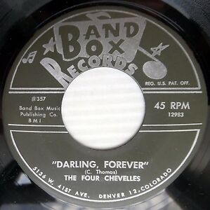 FOUR-CHEVELLES-doowop-2nd-press-45-DARLING-FOREVER-THIS-IS-OUR-WEDDING-DAY-e0513