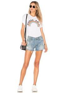 Couture Shirt Nwt T 88 bianca Rainbow sono Sz Xs Tuta Wildfox Dove q10wZ0xAE