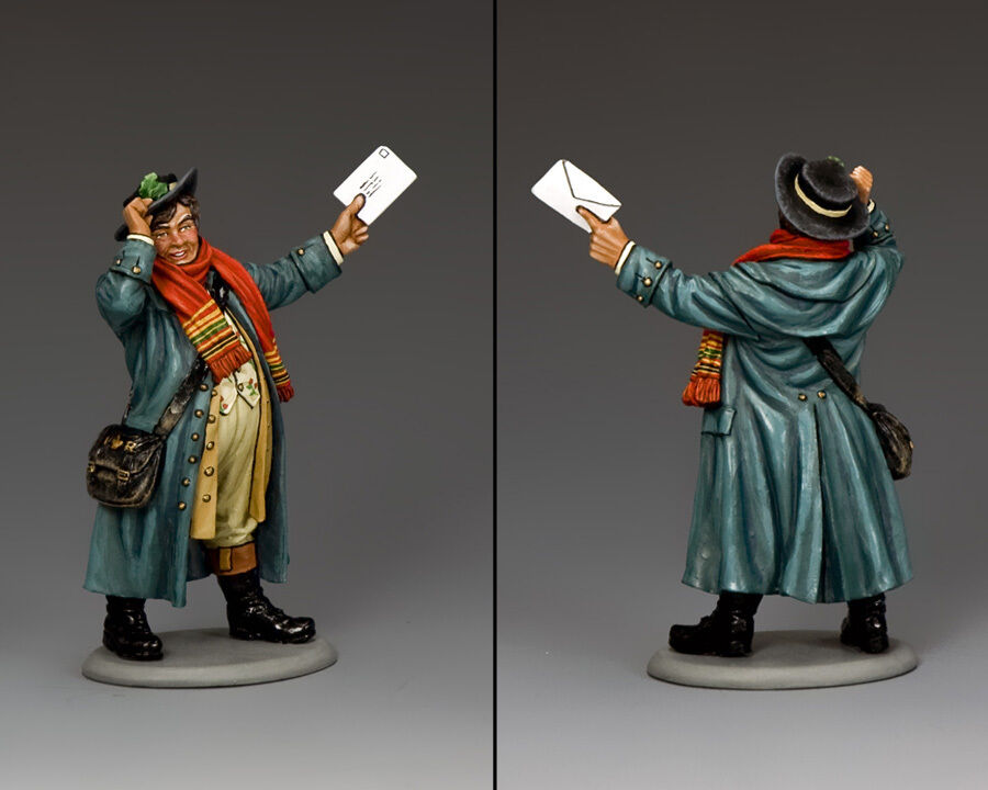 KING AND COUNTRY Dickens - The Postman WoD010 WoD10 Painted Painted Metal Scale Model