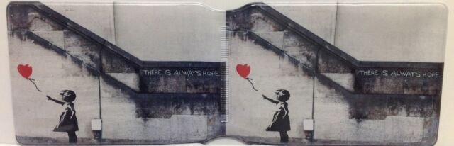 Banksy Don/'t Forget Your Lunch Oyster Wallet Travel /& Credit//Debit Card Holder