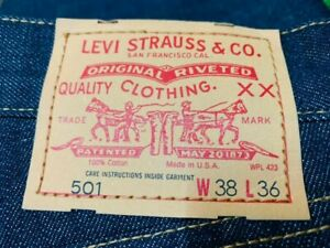 LEVIS VINTAGE CLOTHING LVC 501XX 1978 MADE IN USA SELVEDGE (BIG E) (W38 L36)
