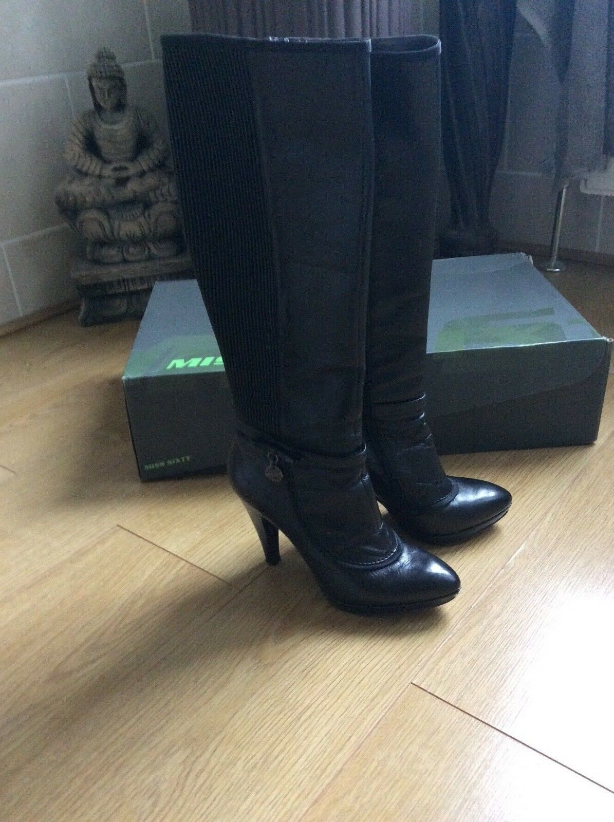 Miss Sixty stunning Black knee high boots size 5 5 5 50b3ce