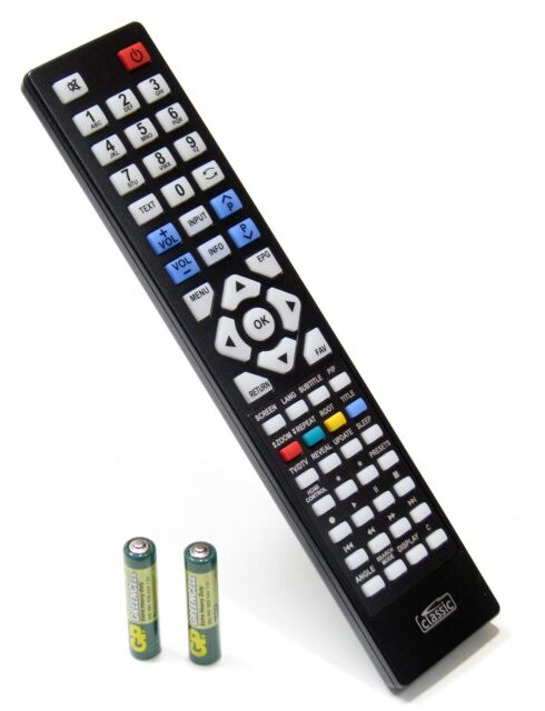 Replacement Remote Control for Telefunken T32S857FHD100 DVB-T