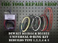 Dewalt D51844 Framing Nailer O-ring Kit Type 1,2 & 3 Plus Trigger O-ring Kit