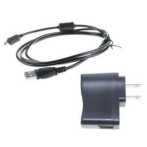 Pc Cable Para Olympus Fe-4020 En la Cámara Usb De Corriente Ac//dc Adaptador Cargador De Batería
