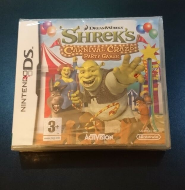 SHREK'S CARNIVAL CRAZE PARTY GAMES NINTENDO DS - NDS - NEW & SEALED! FREE UK P&P