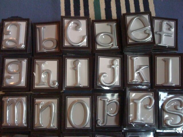 Brand New Elegant Silver Wall Initials by Ganz - Signs Plaques Letters Symbols