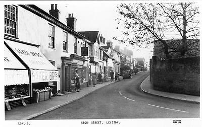 Leiston High Street Nr Saxmundham unused RP old postcard Frith