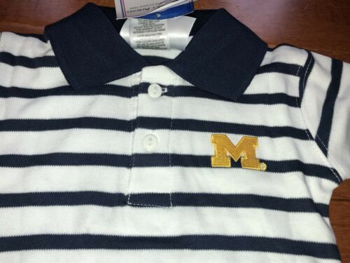 NCAA Licensed University of Michigan Toddler Boy Polo Romper New 18 Months