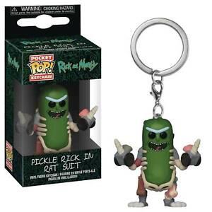 Rick-amp-Morty-Pickle-Rick-en-ratas-Suit-2-034-Figura-de-Vinilo-Pop-KEYCHAIN-FUNKO-de-bolsillo