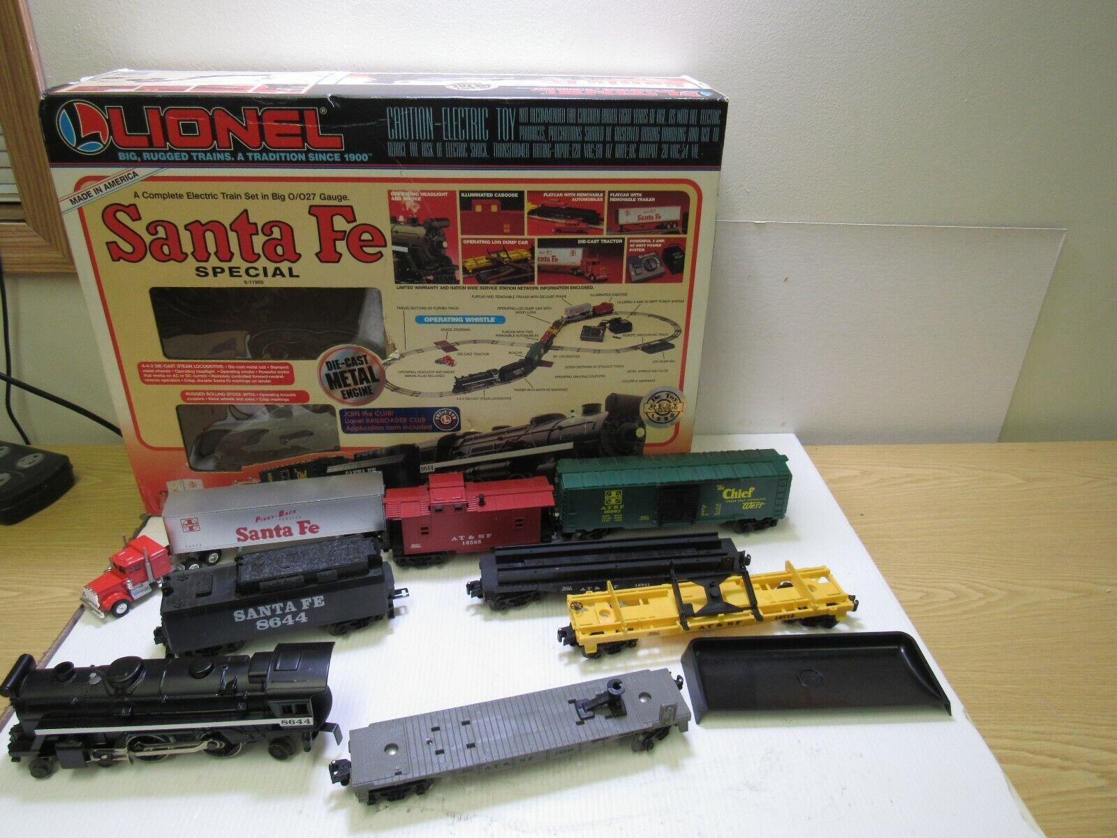 Lionel  6-11900 Santa Fe Train Set w Original Box