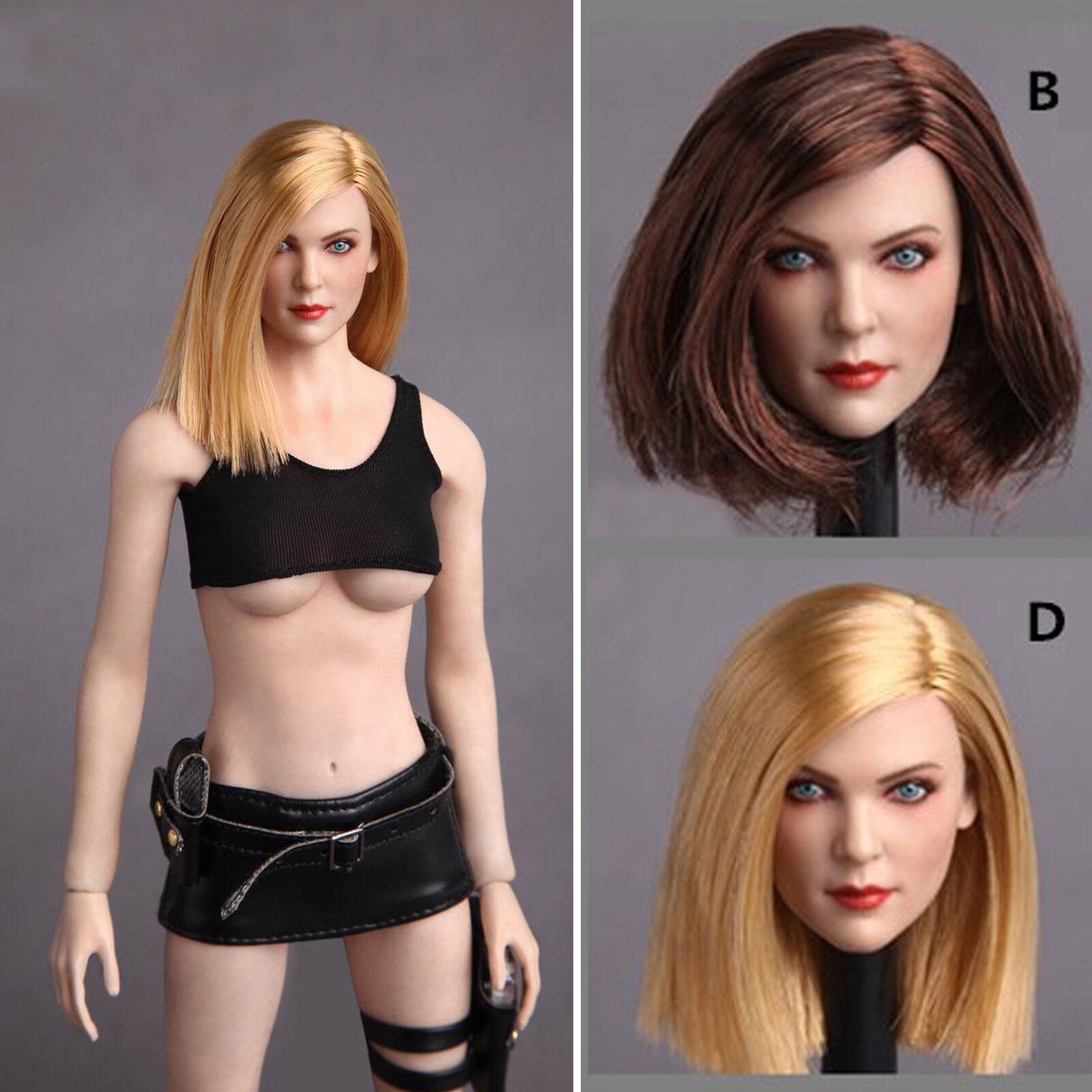 1/6 GACTOYS GC006 Blond Long Hair Head Sculpt F 12'' PH Body Figure