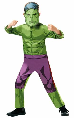 Hulk Boys Costume Kids Marvel DC comics Justice League Fancy Dress Outfit