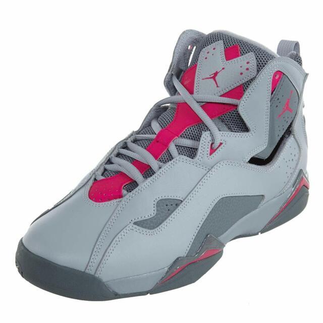 separation shoes ff5a6 2f153 Jordan TRUE FLIGHT GG Girls Grade School Wolf Grey/Deadly Pink 342774-018  Shoes