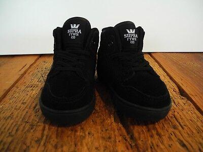 SUPRA FOOTWEAR - VAIDER KINDER/BABY SCHUHE NEU BLACK GR:US 5 EUR 21