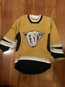 new arrivals 8425c 28cad Details about Nashville Predators RARE VINTAGE Alternate Mustard Yellow  KOHO Jersey Youth L/XL