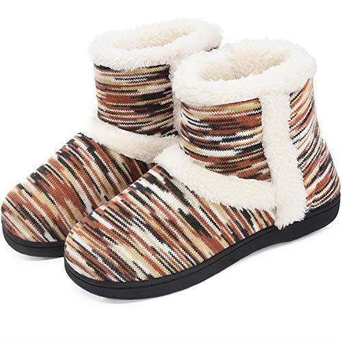 Rockdove Women/'S Down Memory Foam Slippers Warm Fleece Lined 9-10 B M US NEW