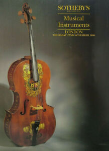 Sotheby S London Auction Catalog Musical Instruments Nov 22 1990 Freeship Ebay