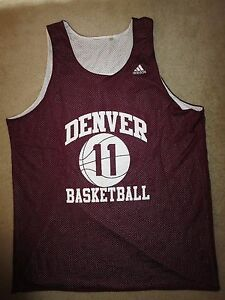 University of Denver Pioneers NCAA Game Worn Used Basketball Adidas Jersey