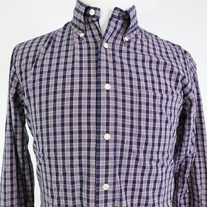 BROOKS-BROTHERS-REGENT-FIT-PLAID-LONG-SLEEVE-BUTTON-DOWN-SHIRT-MENS-SIZE-M