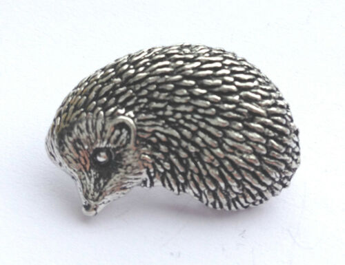 HEDGEHOG Hand Made in UK Pewter Lapel Pin Badge