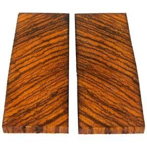 crosscut zebra wood knife scales handle blank exotic wood pistol