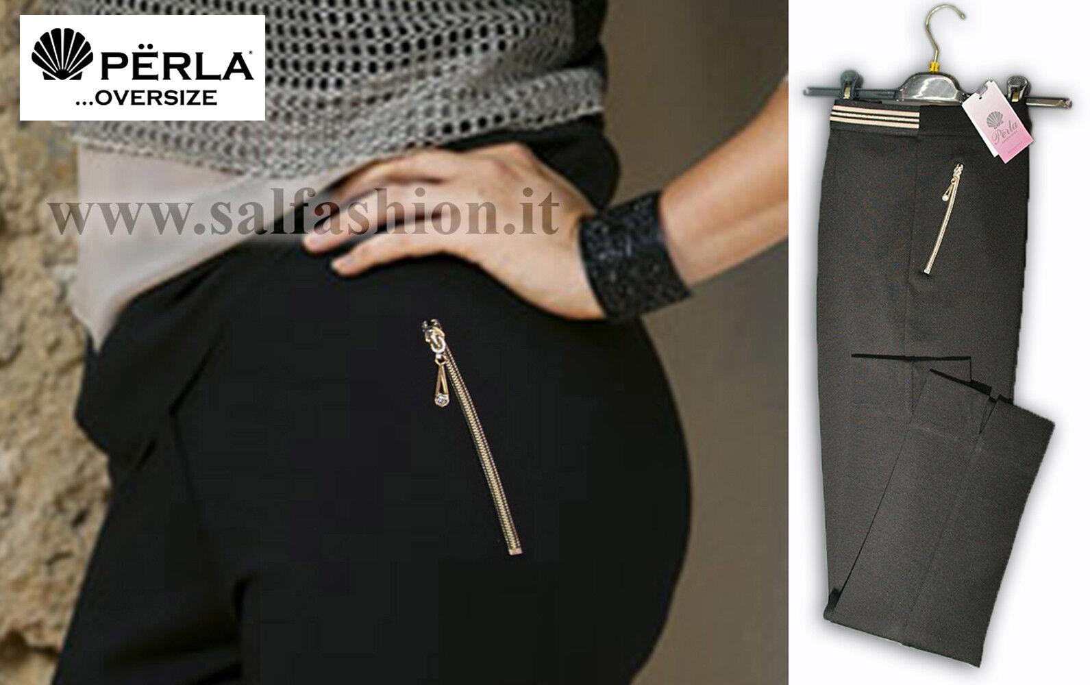 Damenhose Winter Bielastischem Schwarz Made in  Perla OverGröße 13-16338