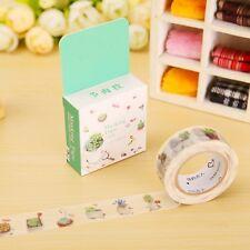 Gardening Plant Washi Tape Decorative Paper Sticky Adhesive Sticker Craft UK 10M