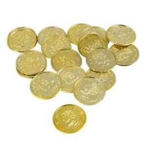 Gold Coins Bag Of 144 Plastic Pieces