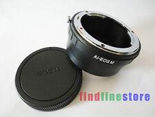Nikon F AI AIS Lens to Canon EOS M EF-M Mirrorless Camera adapter infinity + CAP