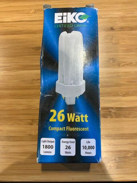 Eiko TT26//50 26W Triple-Tube 5000K GX24q-3 Base Fluorescent Halogen Bulb
