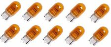 10x 7440 AMBER STOCK TAIL LIGHT T20 BRAKE STOP TURN SIGNAL Yellow BULBS 7440NA